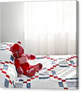 Red Teddy Bear Canvas Print