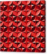 Red Textured Wall Canvas Print