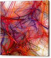 Red Threads Canvas Print