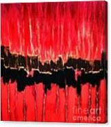 Red Thunder Clash II Canvas Print