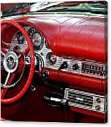 Red Thunderbird Dash Canvas Print