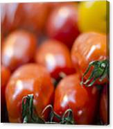Red Tomatoes At The Market Canvas Print