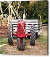 Red Tractor Ready To Roll Canvas Print
