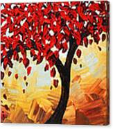 Red Tree of Life Canvas Print