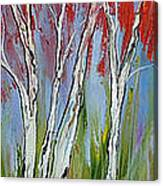 Red Trees Of Autumn Canvas Print