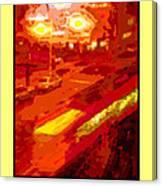 Red Trolley Portland Canvas Print