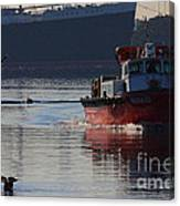 Red Tug Boat Canvas Print