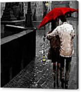 Red Umbrella 2 Canvas Print