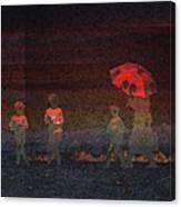 Red Umbrella Canvas Print