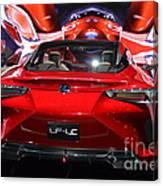 Red Velocity Canvas Print