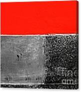 Red Wall In Black And White Canvas Print