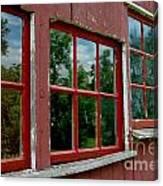 Red Windows Paned Canvas Print