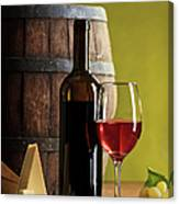 Red Wine Composition Canvas Print