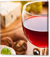 Red Wine With Cheese Canvas Print
