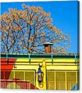 Red Yellow And Blue Building Canvas Print