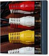 Red Yellow And White Cables Canvas Print