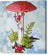 Redfrog And The Magic Mushroom Canvas Print