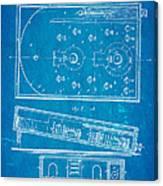 Redgrave Bagatelle Patent Art 1871 Blueprint Canvas Print