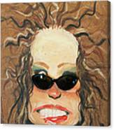 Ginger In Sunglasses Canvas Print