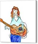 Redhead Player Canvas Print