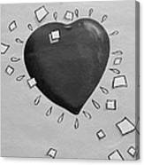 Redheart In Black And White2 Canvas Print