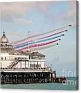 Reds Over Eastbourne Pier Canvas Print