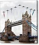 Reds Over Tower Bridge Canvas Print