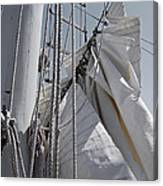 Reefing The Mainsail Canvas Print