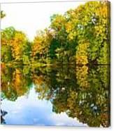 Reflected Autumn Glory Canvas Print