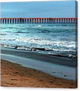 Reflected Sunlight At Pier's End Canvas Print