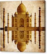 Reflected Taj Mahal Canvas Print