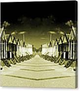 Reflected Yellow Huts  Canvas Print