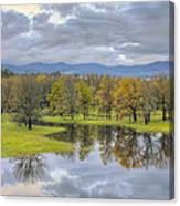 Reflection At Columbia River Gorge Canvas Print