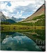 Reflection At Glacier National Park Canvas Print