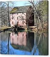 Reflection At The Mill Canvas Print