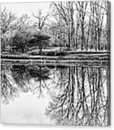Reflection In Black And White Canvas Print