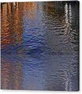 Reflection In Canal Canvas Print