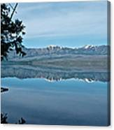 Reflection In Lake Mcdonald In Glacier National Park-montana Canvas Print