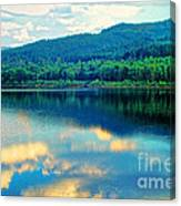 Reflection In The Water Canvas Print