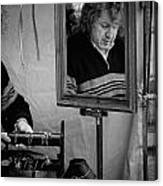 Reflection Of A Man Canvas Print
