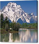 Reflection Of A Mountain Range Canvas Print