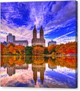 Reflection Of City Canvas Print
