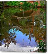 Reflection Of House On Water Canvas Print