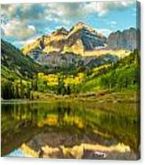 Reflection Of Maroon Bells Canvas Print