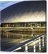 Reflection Of The Glasgow Science Canvas Print