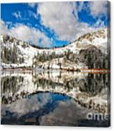 Reflection Off Of The Early Winter Water Canvas Print