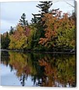 Reflection On The Raquette River Canvas Print