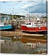 Reflections At Low Tide Canvas Print