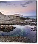 Reflections At Plomo Beach Canvas Print