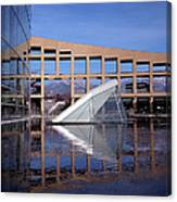 Reflections At The Library Canvas Print
